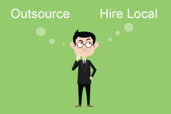 Outsource vs Hire Local